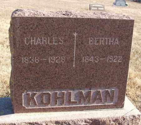 KOHLMAN, BERTHA - Kiowa County, Oklahoma | BERTHA KOHLMAN - Oklahoma Gravestone Photos
