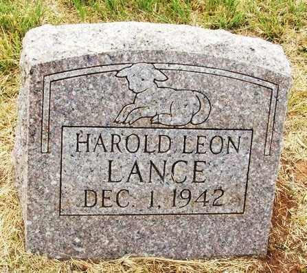 LANCE, HAROLD LEON - Kiowa County, Oklahoma | HAROLD LEON LANCE - Oklahoma Gravestone Photos