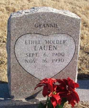 HOLDER LAUEN, ETHEL - Kiowa County, Oklahoma | ETHEL HOLDER LAUEN - Oklahoma Gravestone Photos