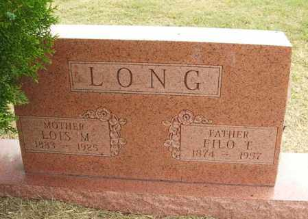 LONG, LOIS M - Kiowa County, Oklahoma | LOIS M LONG - Oklahoma Gravestone Photos