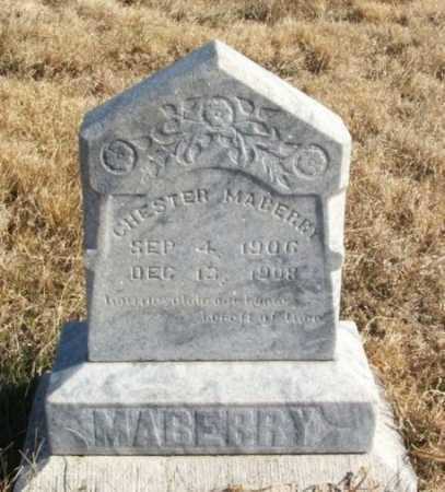 MABERRY, CHESTER - Kiowa County, Oklahoma   CHESTER MABERRY - Oklahoma Gravestone Photos