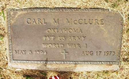 MCCLURE (VETERAN WWI), CARL M - Kiowa County, Oklahoma | CARL M MCCLURE (VETERAN WWI) - Oklahoma Gravestone Photos