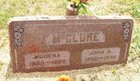 MCCLURE, JOHN A - Kiowa County, Oklahoma | JOHN A MCCLURE - Oklahoma Gravestone Photos