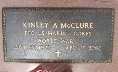 MCCLURE (VETERAN WWII), KINLEY ARVIN - Kiowa County, Oklahoma | KINLEY ARVIN MCCLURE (VETERAN WWII) - Oklahoma Gravestone Photos