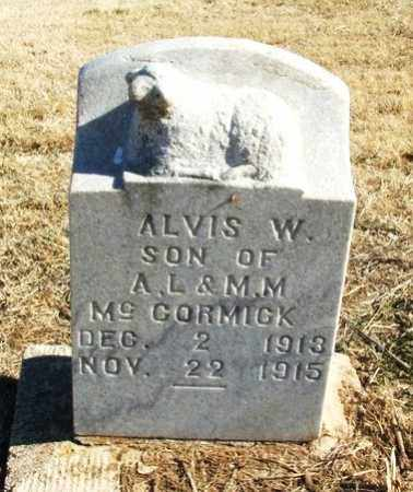 MCCORMICK, ALVIS W - Kiowa County, Oklahoma | ALVIS W MCCORMICK - Oklahoma Gravestone Photos