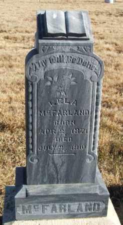 MCFARLAND, LELA - Kiowa County, Oklahoma | LELA MCFARLAND - Oklahoma Gravestone Photos
