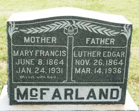 MCFARLAND, LUTHER EDGAR - Kiowa County, Oklahoma | LUTHER EDGAR MCFARLAND - Oklahoma Gravestone Photos