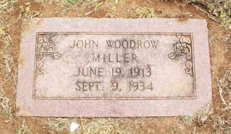 MILLER, JOHN WOODROW - Kiowa County, Oklahoma   JOHN WOODROW MILLER - Oklahoma Gravestone Photos