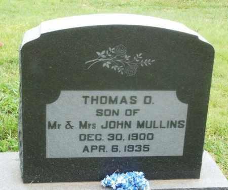 MULLINS, THOMAS O - Kiowa County, Oklahoma   THOMAS O MULLINS - Oklahoma Gravestone Photos