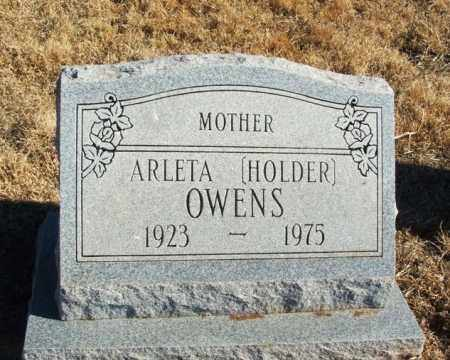 HOLDER OWENS, ARLETA - Kiowa County, Oklahoma | ARLETA HOLDER OWENS - Oklahoma Gravestone Photos