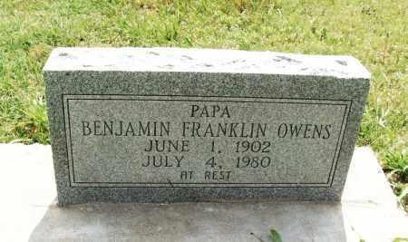 OWENS, BENJAMIN FRANKLIN - Kiowa County, Oklahoma | BENJAMIN FRANKLIN OWENS - Oklahoma Gravestone Photos
