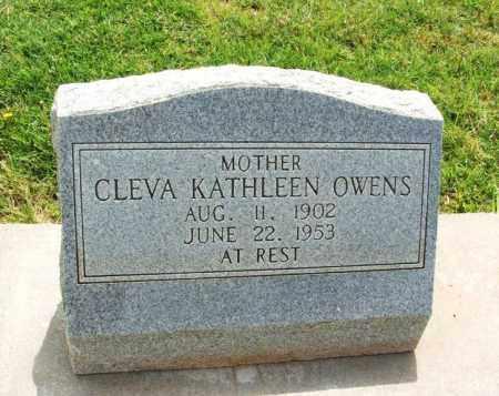 OWENS, CLEVA KATHLEEN - Kiowa County, Oklahoma | CLEVA KATHLEEN OWENS - Oklahoma Gravestone Photos