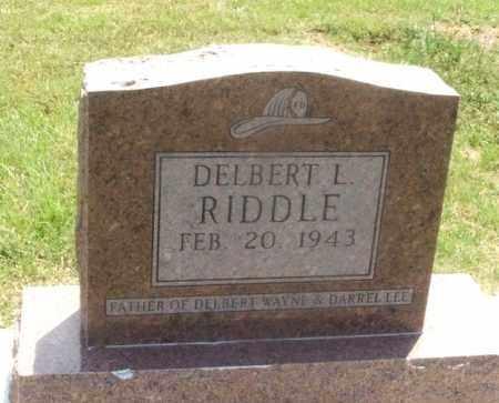 RIDDLE, DELBERT L - Kiowa County, Oklahoma | DELBERT L RIDDLE - Oklahoma Gravestone Photos