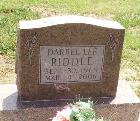 RIDDLE, DARREL LEE - Kiowa County, Oklahoma | DARREL LEE RIDDLE - Oklahoma Gravestone Photos
