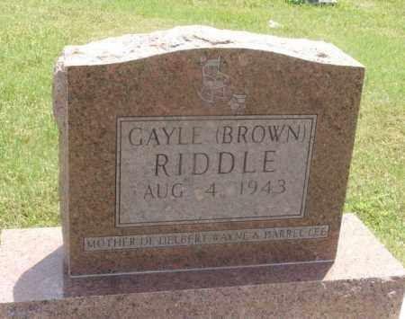 BROWN RIDDLE, GAYLE - Kiowa County, Oklahoma | GAYLE BROWN RIDDLE - Oklahoma Gravestone Photos