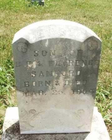 SANFORD, BABY SON - Kiowa County, Oklahoma | BABY SON SANFORD - Oklahoma Gravestone Photos