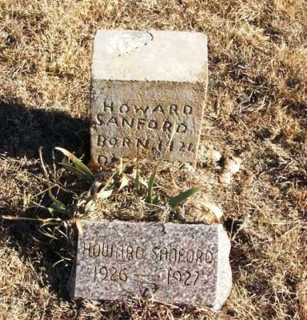 SANFORD, HOWARD - Kiowa County, Oklahoma | HOWARD SANFORD - Oklahoma Gravestone Photos
