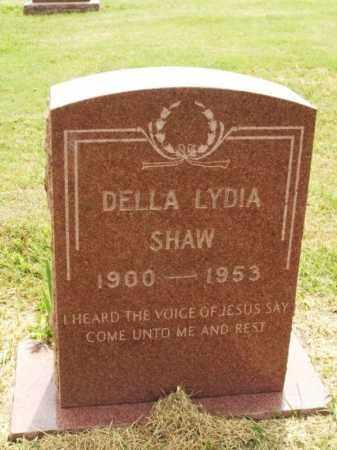 SHAW, DELLA LYDIA - Kiowa County, Oklahoma   DELLA LYDIA SHAW - Oklahoma Gravestone Photos