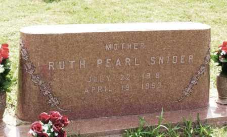 SNIDER, RUTH PEARL - Kiowa County, Oklahoma | RUTH PEARL SNIDER - Oklahoma Gravestone Photos
