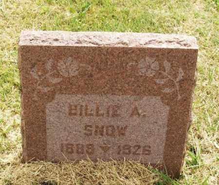 SNOW, BILLIE A - Kiowa County, Oklahoma | BILLIE A SNOW - Oklahoma Gravestone Photos