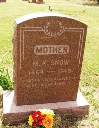 SNOW, M K - Kiowa County, Oklahoma   M K SNOW - Oklahoma Gravestone Photos