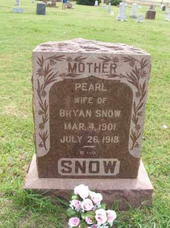 SNOW, PEARL - Kiowa County, Oklahoma | PEARL SNOW - Oklahoma Gravestone Photos