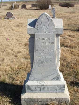 STRAIN, EARNEST - Kiowa County, Oklahoma | EARNEST STRAIN - Oklahoma Gravestone Photos