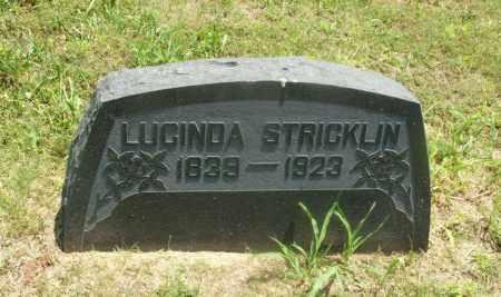STRICKLIN, LUCINDA - Kiowa County, Oklahoma | LUCINDA STRICKLIN - Oklahoma Gravestone Photos