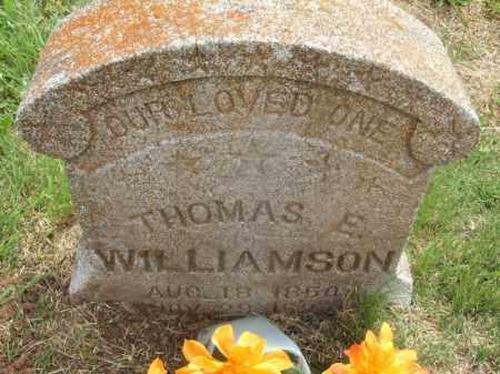 WILLIAMSON, THOMAS E - Kiowa County, Oklahoma | THOMAS E WILLIAMSON - Oklahoma Gravestone Photos