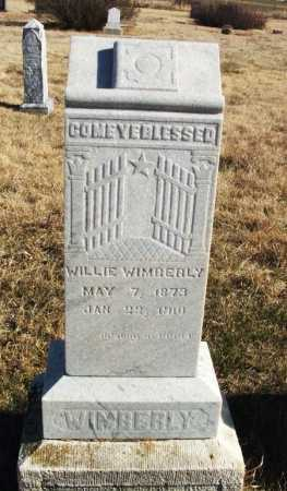 WIMBERLY, WILLIE - Kiowa County, Oklahoma | WILLIE WIMBERLY - Oklahoma Gravestone Photos