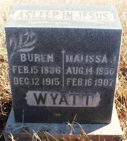 WYATT, MALISSA J - Kiowa County, Oklahoma | MALISSA J WYATT - Oklahoma Gravestone Photos