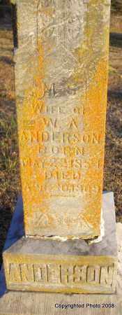 ANDERSON, M S - Le Flore County, Oklahoma | M S ANDERSON - Oklahoma Gravestone Photos