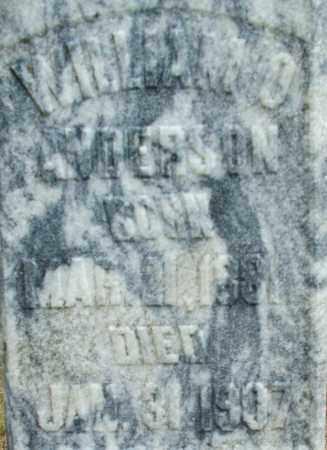 ANDERSON, WILLIAM O. - Le Flore County, Oklahoma | WILLIAM O. ANDERSON - Oklahoma Gravestone Photos