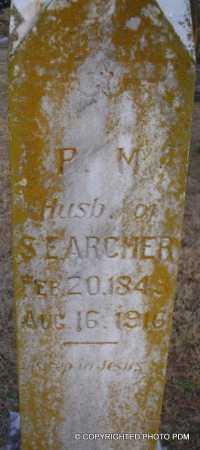 ARCHER, P M - Le Flore County, Oklahoma | P M ARCHER - Oklahoma Gravestone Photos