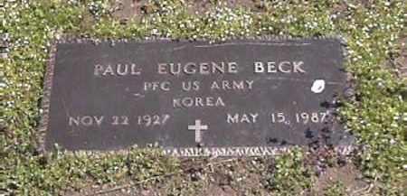 BECK, PAUL  EUGENE (VETERAN KOREA) - Le Flore County, Oklahoma   PAUL  EUGENE (VETERAN KOREA) BECK - Oklahoma Gravestone Photos