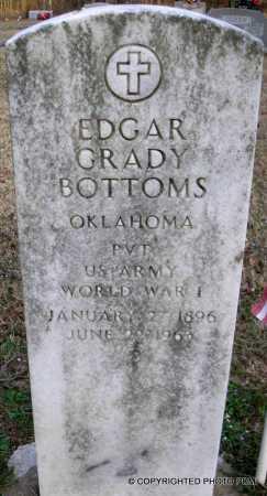 BOTTOMS  (VETERAN WWI), EDGAR GRADY - Le Flore County, Oklahoma | EDGAR GRADY BOTTOMS  (VETERAN WWI) - Oklahoma Gravestone Photos