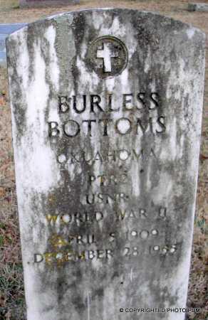 BOTTOMS  (VETERAN WWII), BURLESS - Le Flore County, Oklahoma | BURLESS BOTTOMS  (VETERAN WWII) - Oklahoma Gravestone Photos