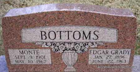 BOTTOMS, EDGAR GRADY - Le Flore County, Oklahoma   EDGAR GRADY BOTTOMS - Oklahoma Gravestone Photos