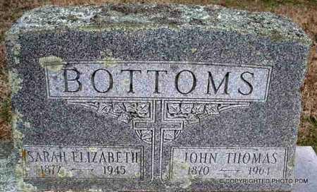 BOTTOMS, JOHN THOMAS - Le Flore County, Oklahoma | JOHN THOMAS BOTTOMS - Oklahoma Gravestone Photos