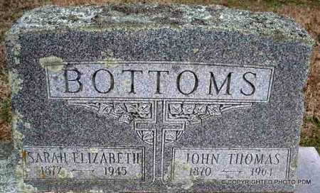 BOTTOMS, JOHN THOMAS - Le Flore County, Oklahoma | JOHN THOMAS BOTTOMS - Oklahoma Gravestone Photos