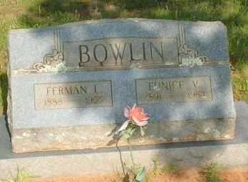 BOWLIN, FERMAN L. - Le Flore County, Oklahoma | FERMAN L. BOWLIN - Oklahoma Gravestone Photos