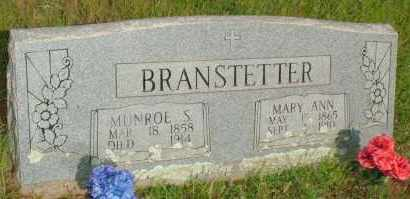 BRANSTETTER, MUNROE S. - Le Flore County, Oklahoma | MUNROE S. BRANSTETTER - Oklahoma Gravestone Photos