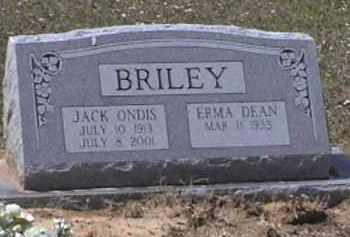 BRILEY, JACK ONDIS - Le Flore County, Oklahoma | JACK ONDIS BRILEY - Oklahoma Gravestone Photos