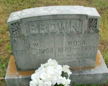 BROWN, J.W. - Le Flore County, Oklahoma | J.W. BROWN - Oklahoma Gravestone Photos