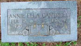 CANTRELL, ANNIE ELLA - Le Flore County, Oklahoma   ANNIE ELLA CANTRELL - Oklahoma Gravestone Photos