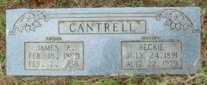 CANTRELL, JAMES A. - Le Flore County, Oklahoma   JAMES A. CANTRELL - Oklahoma Gravestone Photos