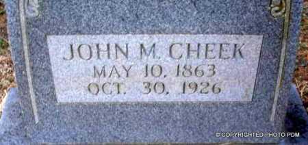 CHEEK, JOHN M - Le Flore County, Oklahoma   JOHN M CHEEK - Oklahoma Gravestone Photos