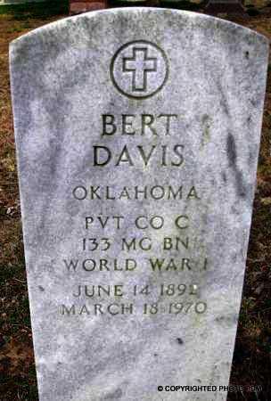 DAVIS  (VETERAN WWI), BERT - Le Flore County, Oklahoma | BERT DAVIS  (VETERAN WWI) - Oklahoma Gravestone Photos
