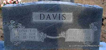 DAVIS, EDNA T - Le Flore County, Oklahoma | EDNA T DAVIS - Oklahoma Gravestone Photos