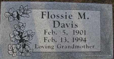 DAVIS, FLOSSIE M - Le Flore County, Oklahoma | FLOSSIE M DAVIS - Oklahoma Gravestone Photos